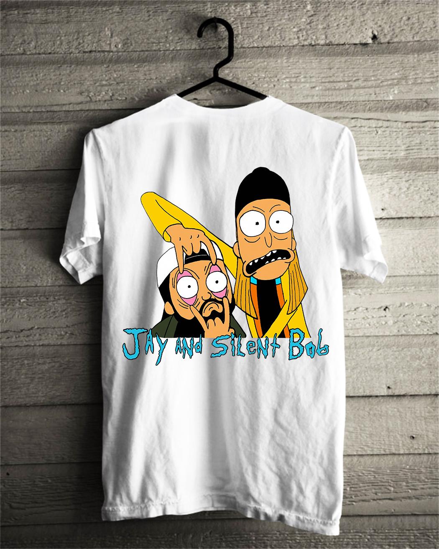 Jay and Silent Bob Rick and Morty shirt