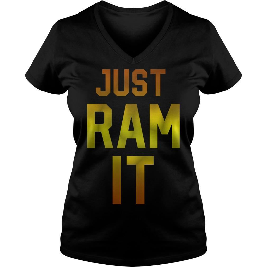 Just ram it V-neck T-shirt