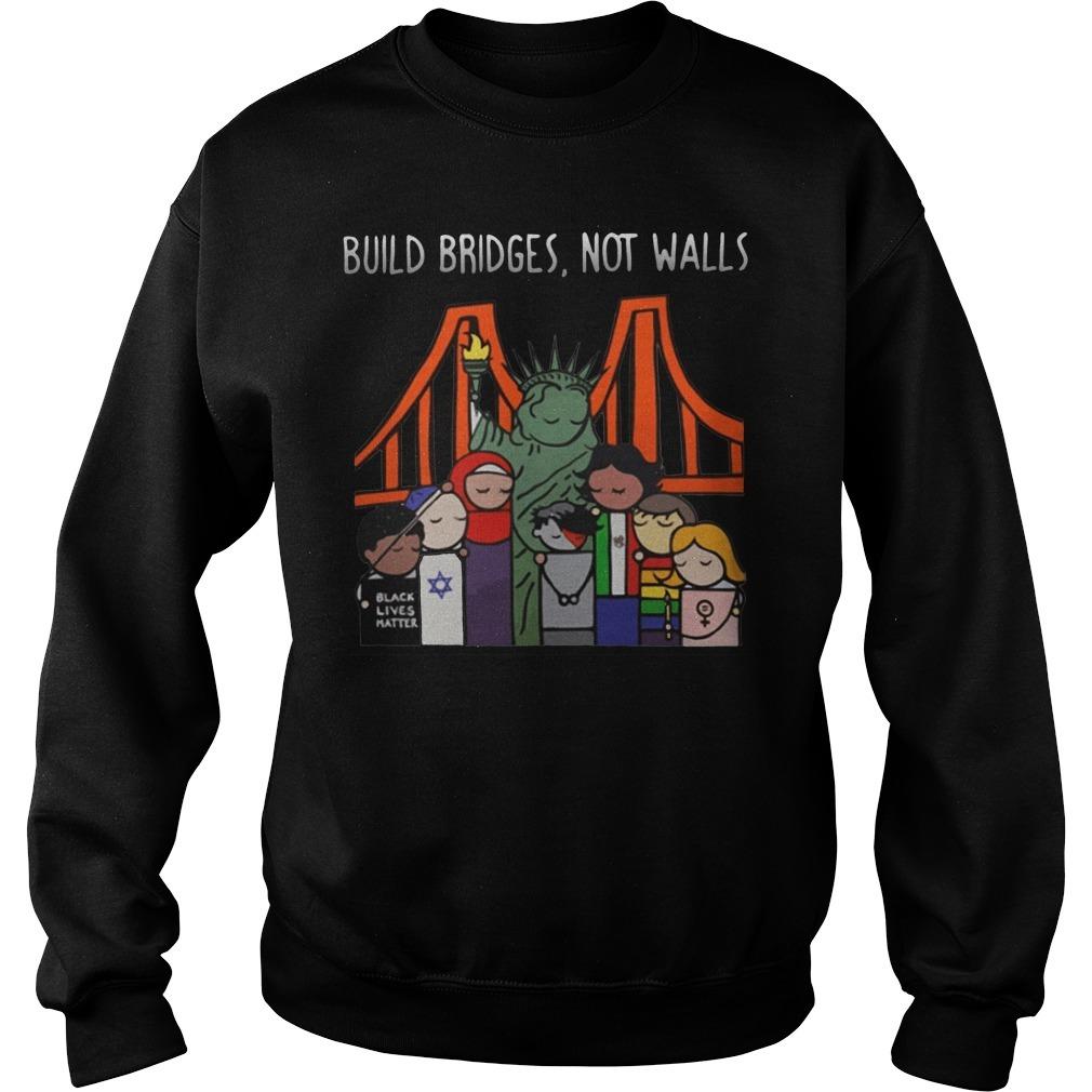 Liberty for all by Bren Bataclan build bridges not walls Sweater