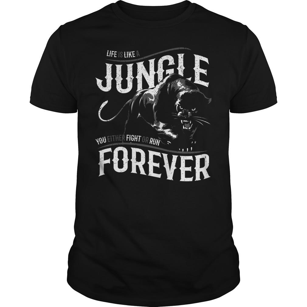 Like is like a jungle black panther Guys Shirt