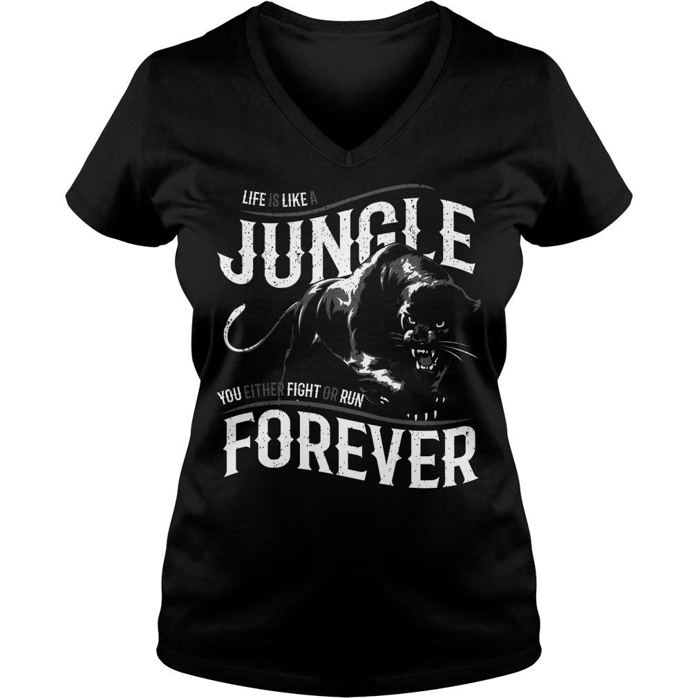 Like is like a jungle black panther V-neck T-shirt