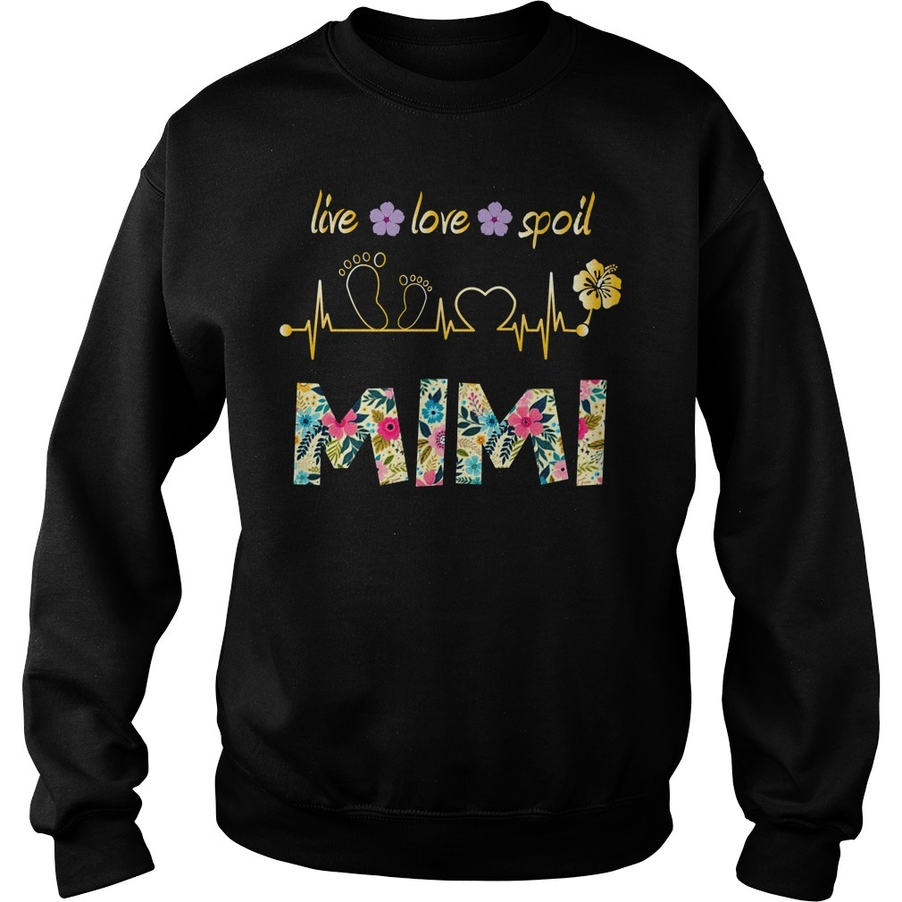 Live love spoil mimi floral heart beat Sweater