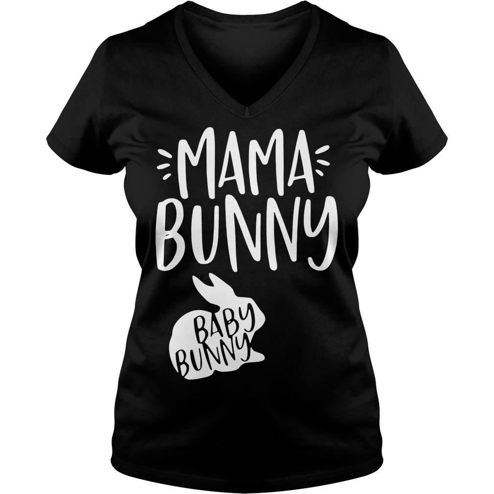 Mama bunny baby bunny V-neck t-shirt