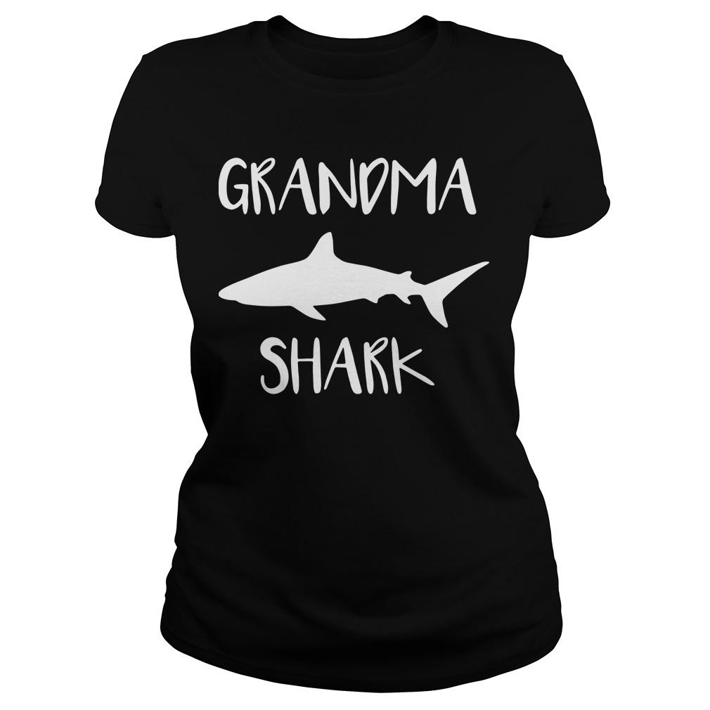 Official Grandma shark Ladies tee
