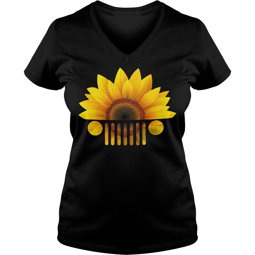 Official Sunflower jeep V-neck t-shirt