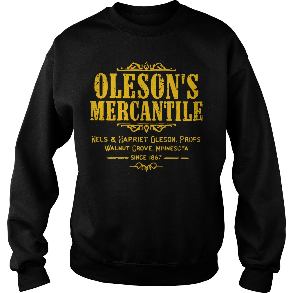 Oleson's mercantile nels and harriet oleson profs walnut grove minnesota since 1876 Sweater