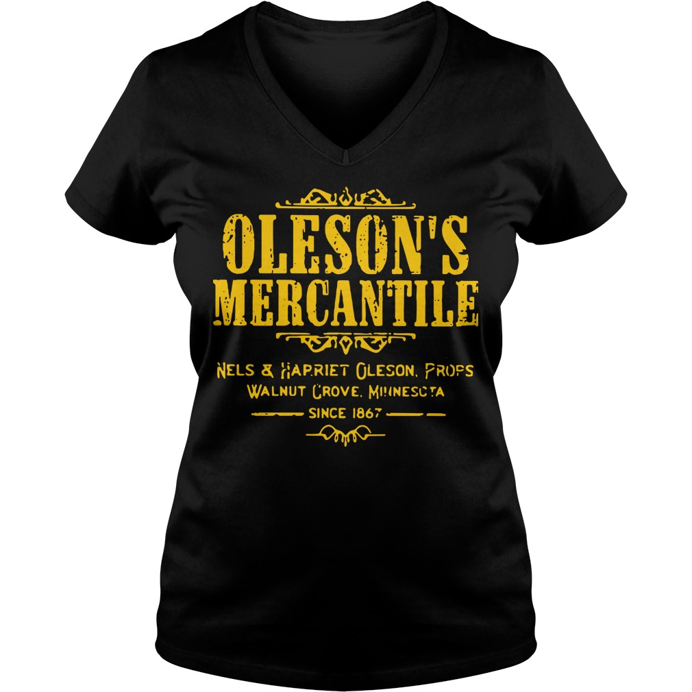 Oleson's mercantile nels and harriet oleson profs walnut grove minnesota since 1876 V-neck t-shirt