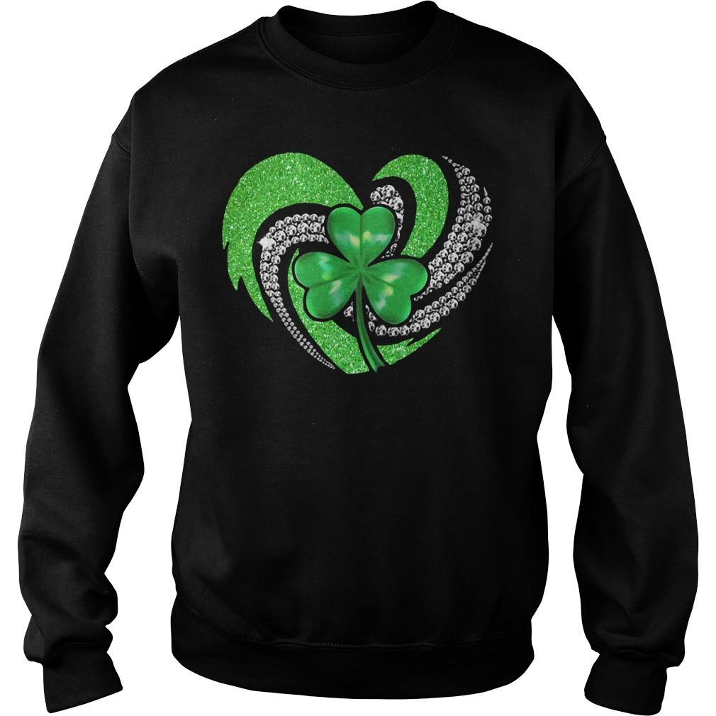 St Patricks Day Shamrock Irish Heart Sweater