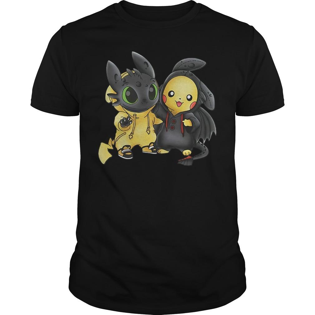 Stich and Pikachu shirt