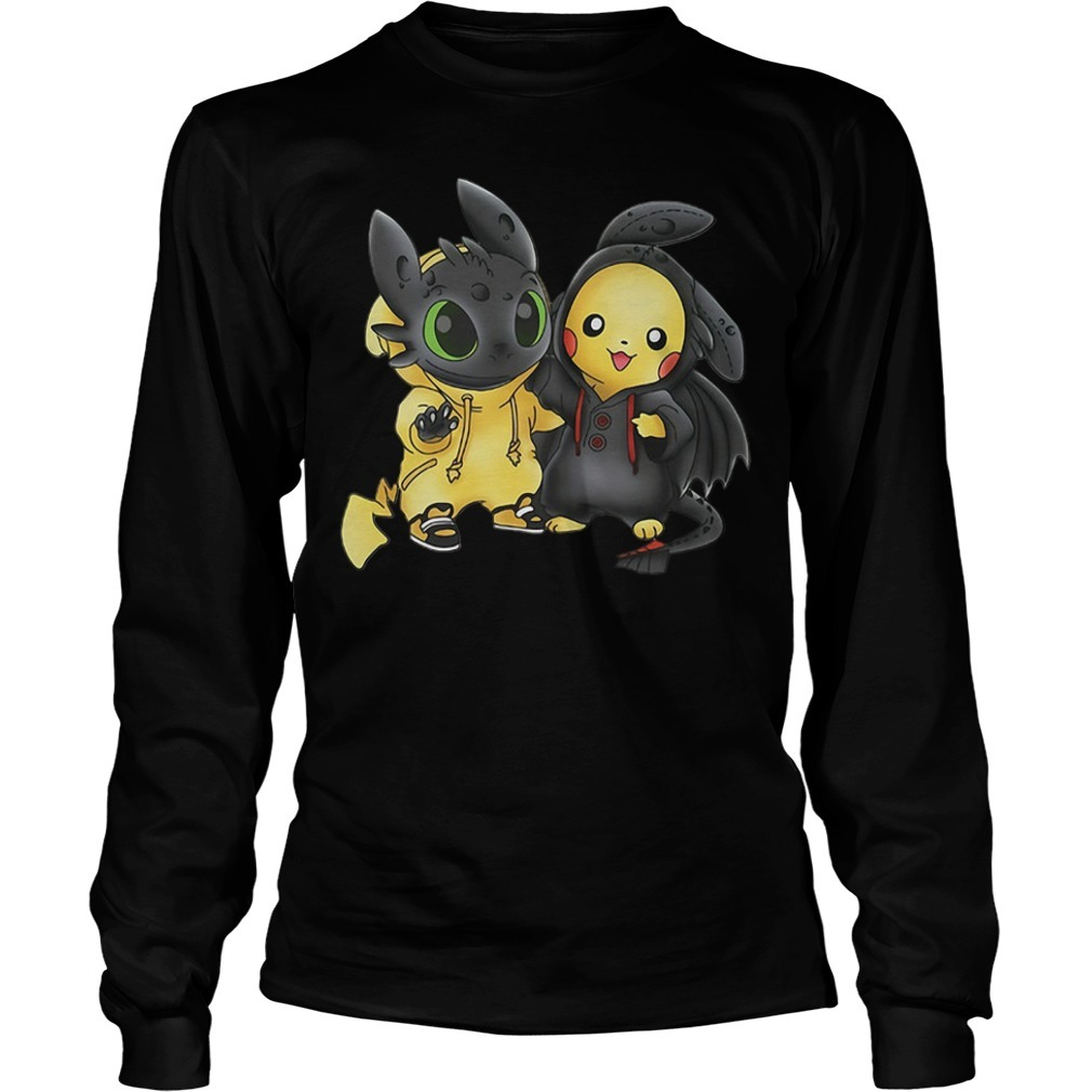 Stich and Pikachu Longsleeve Tee
