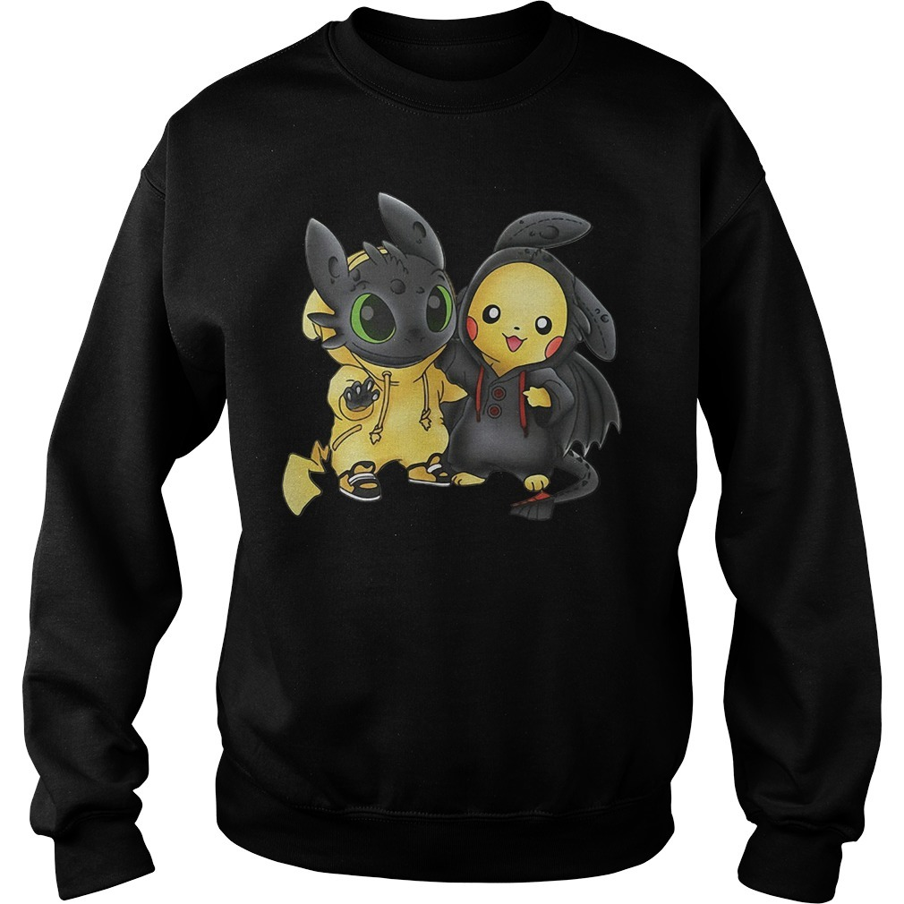 Stich and Pikachu Sweater