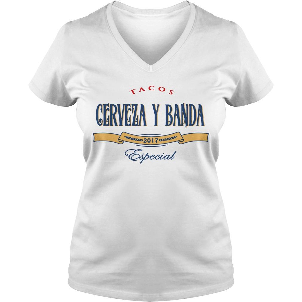 Tacos Cerveza y Banda 2017 Especial V-neck t-shirt