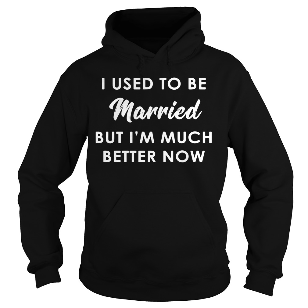 I used to be married but I'm much better now Hoodie