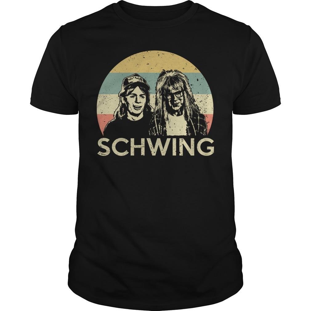 Wayne's world Wayne and Garth schwing retro shirt