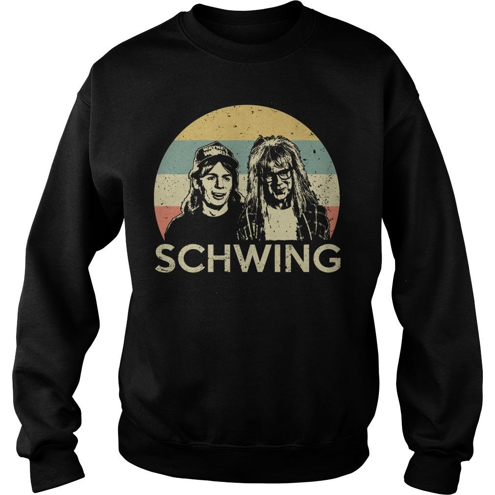 Wayne's world Wayne and Garth schwing retro Sweater