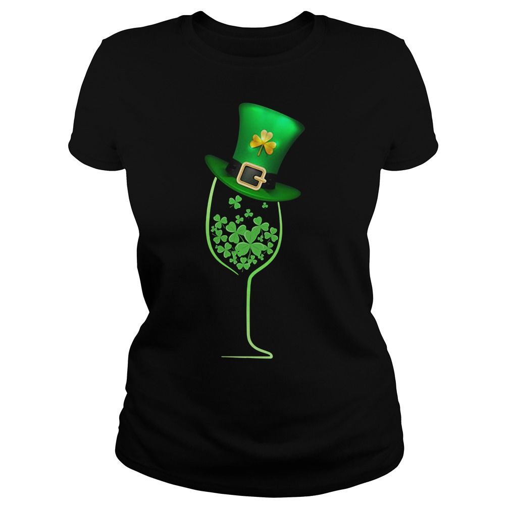 Wine shamrock irish Ladies tee