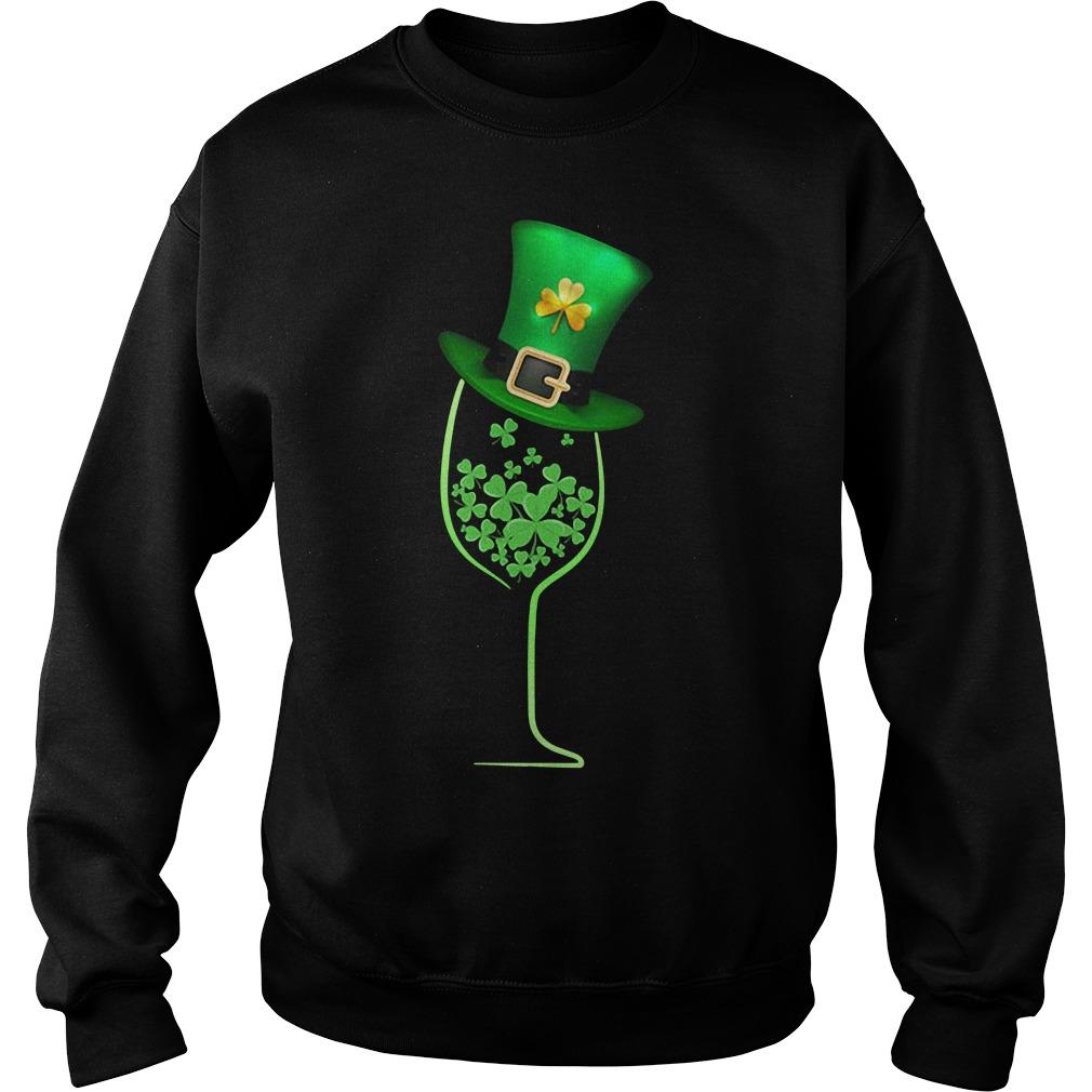 Wine shamrock irish Sweater