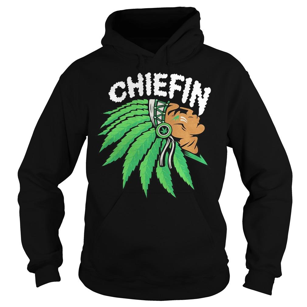 Chiefin weed smoking Indian Irish St. Patrick day Hoodie