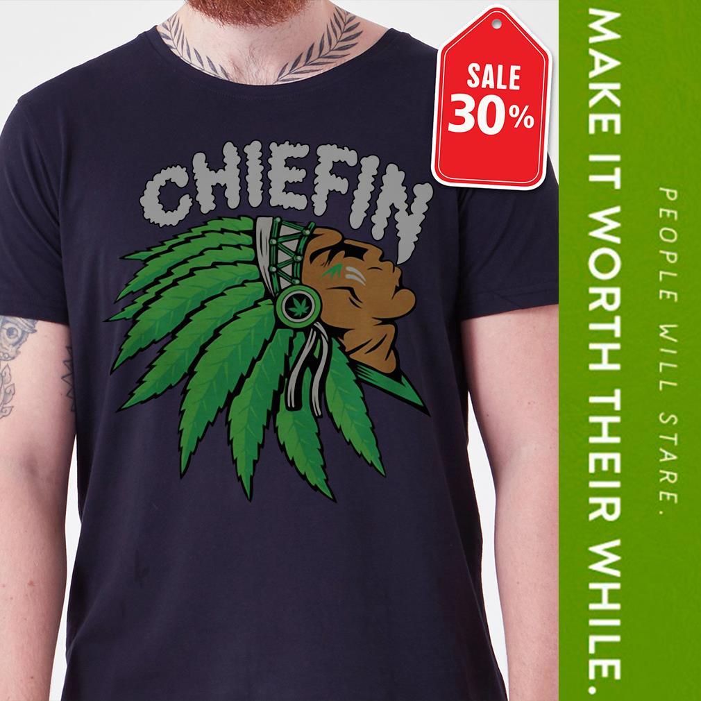 Chiefin weed smoking Indian Irish St. Patrick day shirt