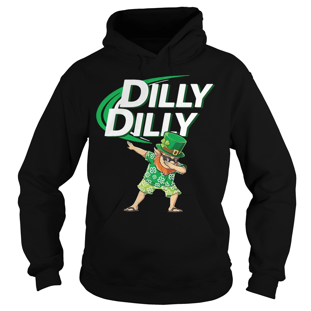 Leprechaun dabbing Dilly Dilly St Patrick's Day Hoodie