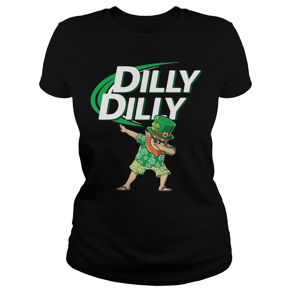 Leprechaun dabbing Dilly Dilly St Patrick's Day Ladies tee