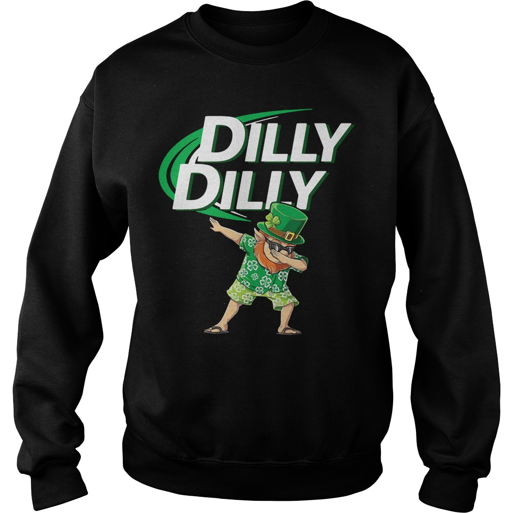 Leprechaun dabbing Dilly Dilly St Patrick's Day Sweater