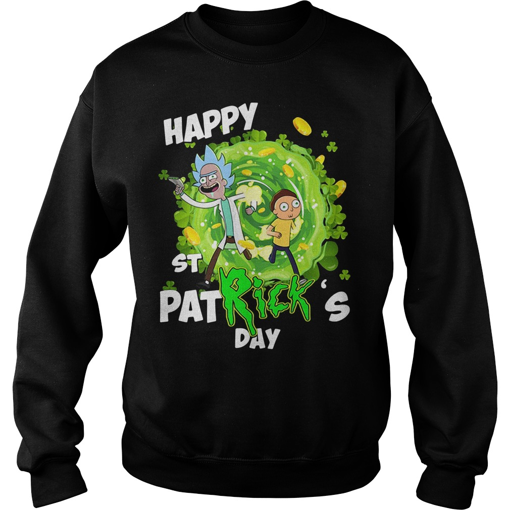 Rick and Morty Happy St. Patrick's day Sweater