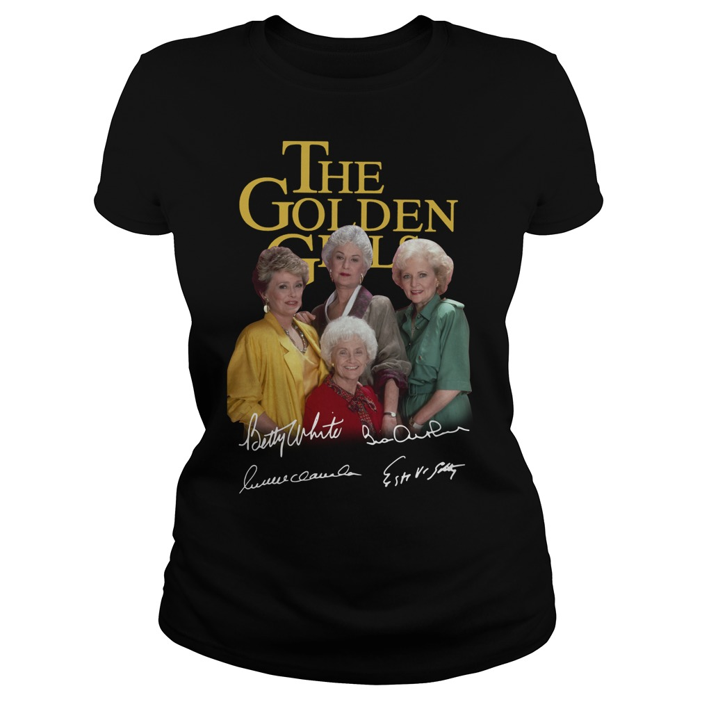 The golden girl Betty White Bea Arthur Rue McClanahan Estelle Getty Ladies tee