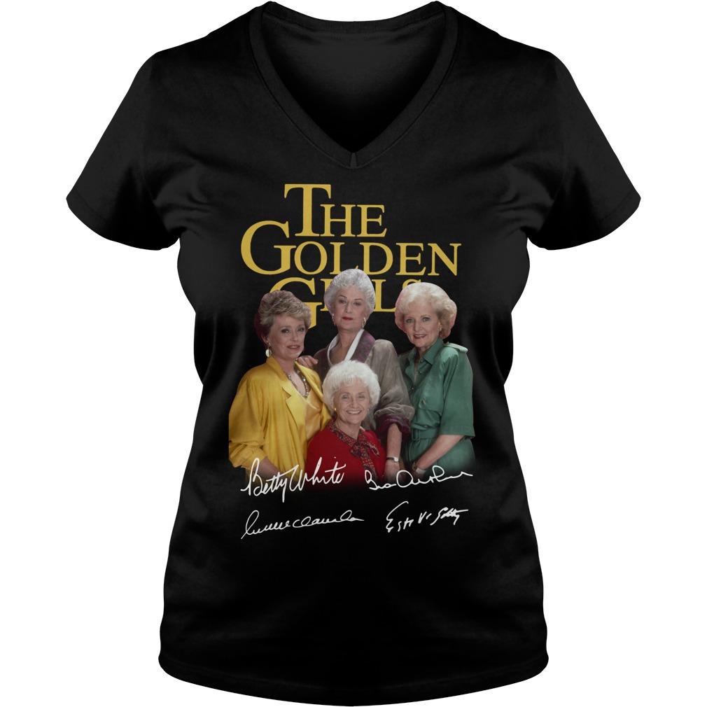 The golden girl Betty White Bea Arthur Rue McClanahan Estelle Getty V-neck t-shirt