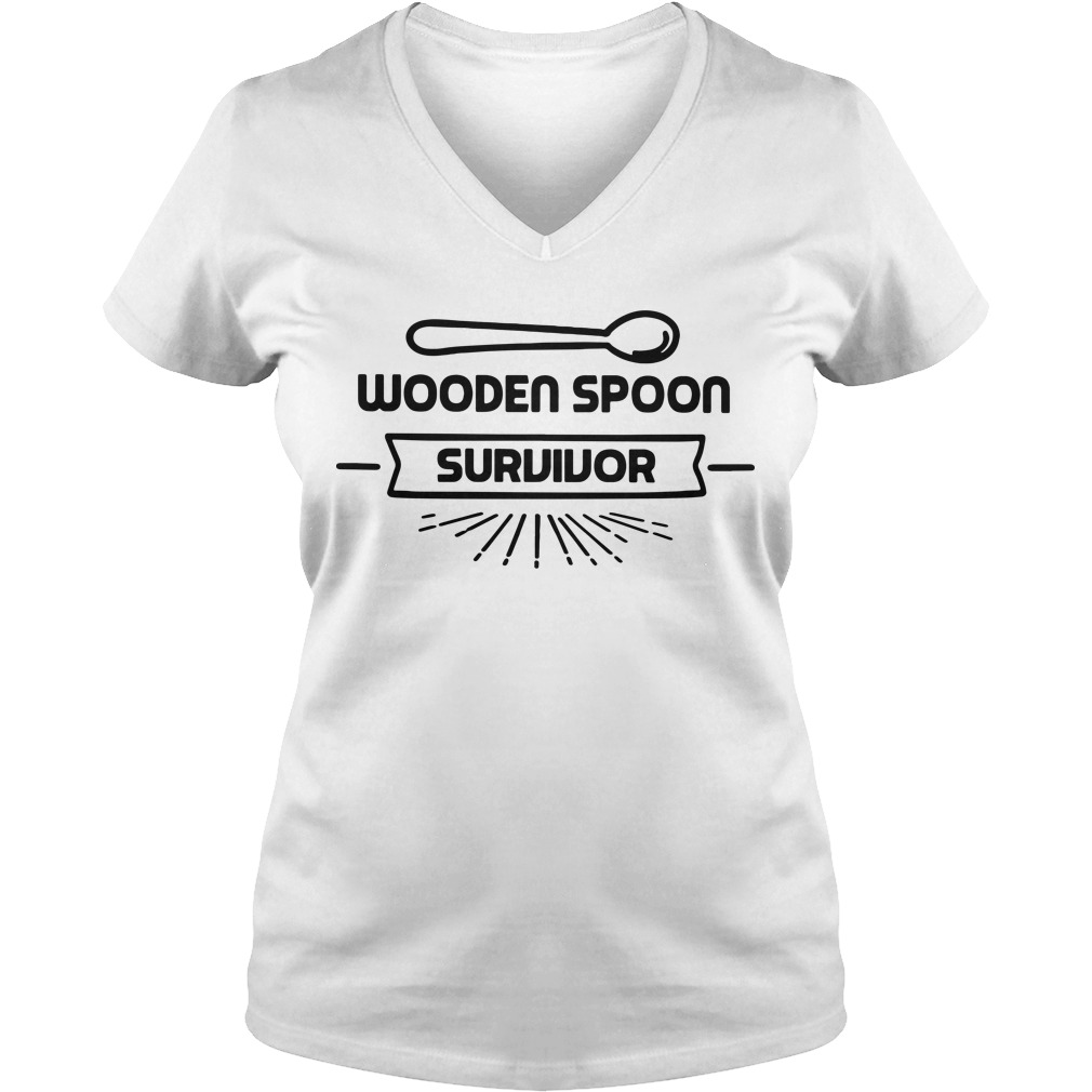 Wooden spoon survivor V-neck t-shirt