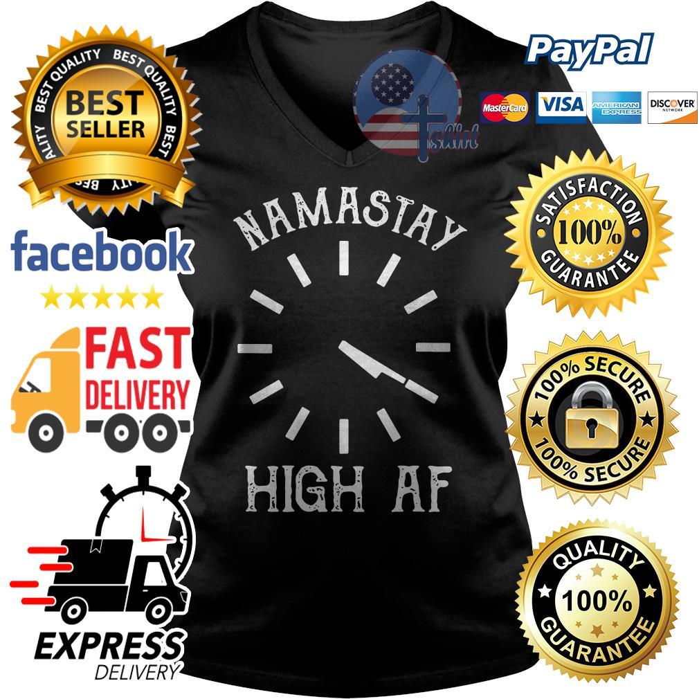 4:20 Namastay high af V-neck t-shirt