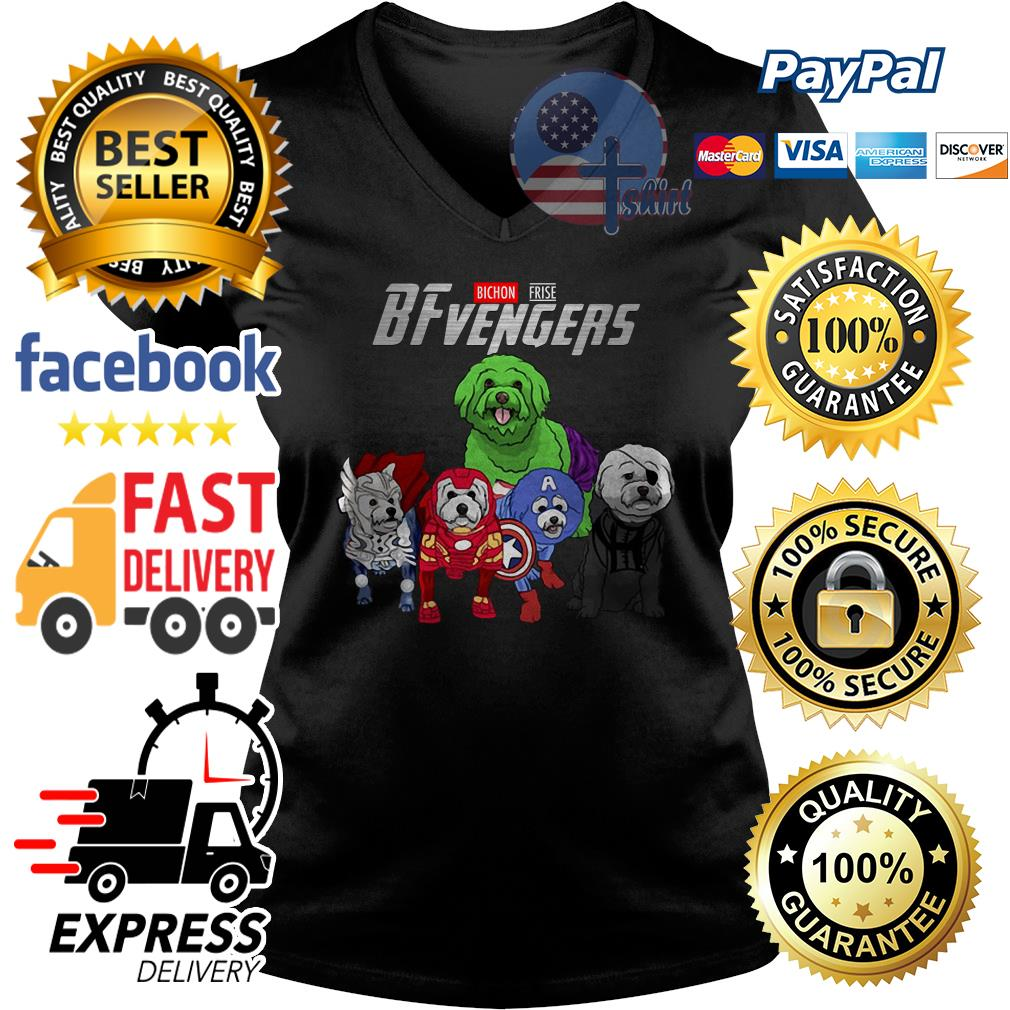 Bichon Frise Bfvengers Avengers V-neck t-shirt