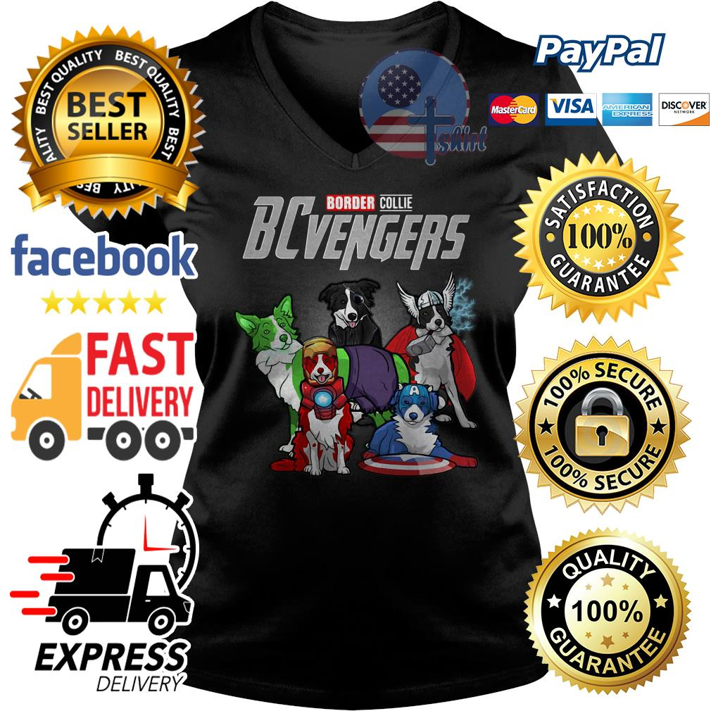 Border Collie BCvengers V-neck t-shirt