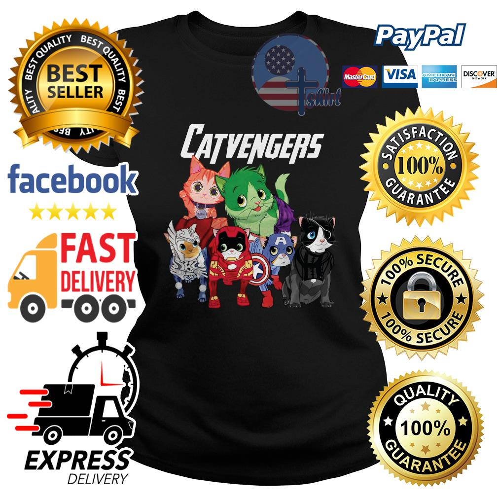 Cat Catvengers Avengers Ladies tee