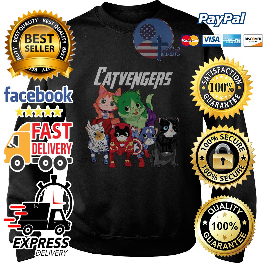 Cat Catvengers Avengers Sweater