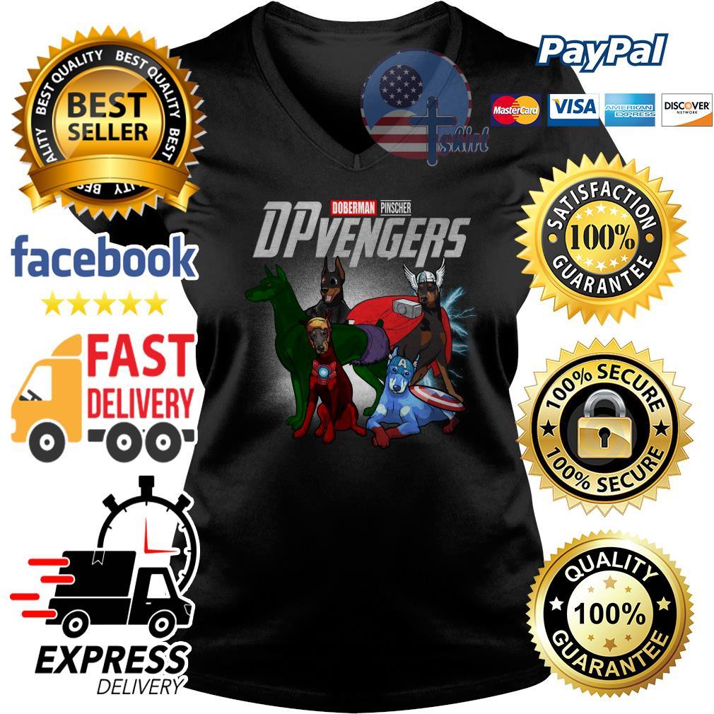 Doberman Pinscher Dpvengers Avenger V-neck t-shirt