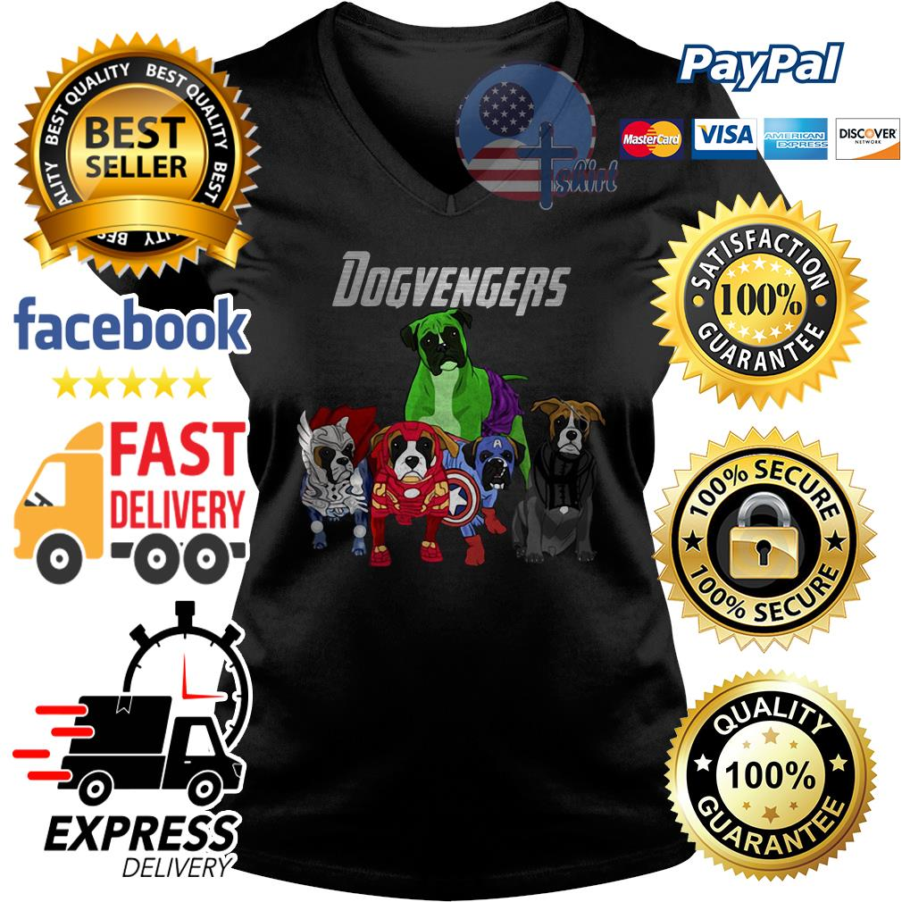 Dog Dogvengers Avengers V-neck t-shirt