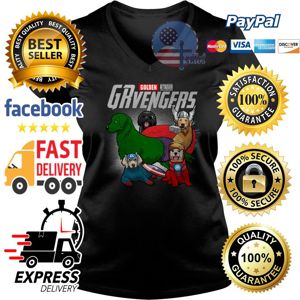 Golden Retriever Grvengers Avenger V-neck t-shirt