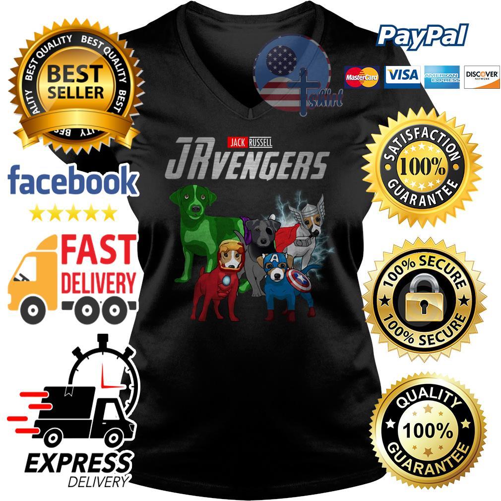 Jack Russell Jrevengers Avengers V-neck t-shirt