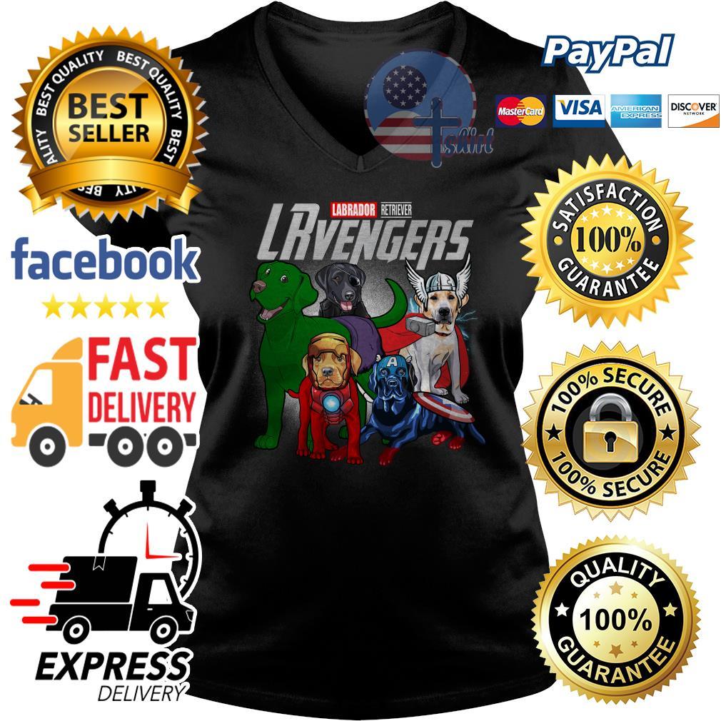 Labrador Retriever Lrvengers Avenger V-neck t-shirt
