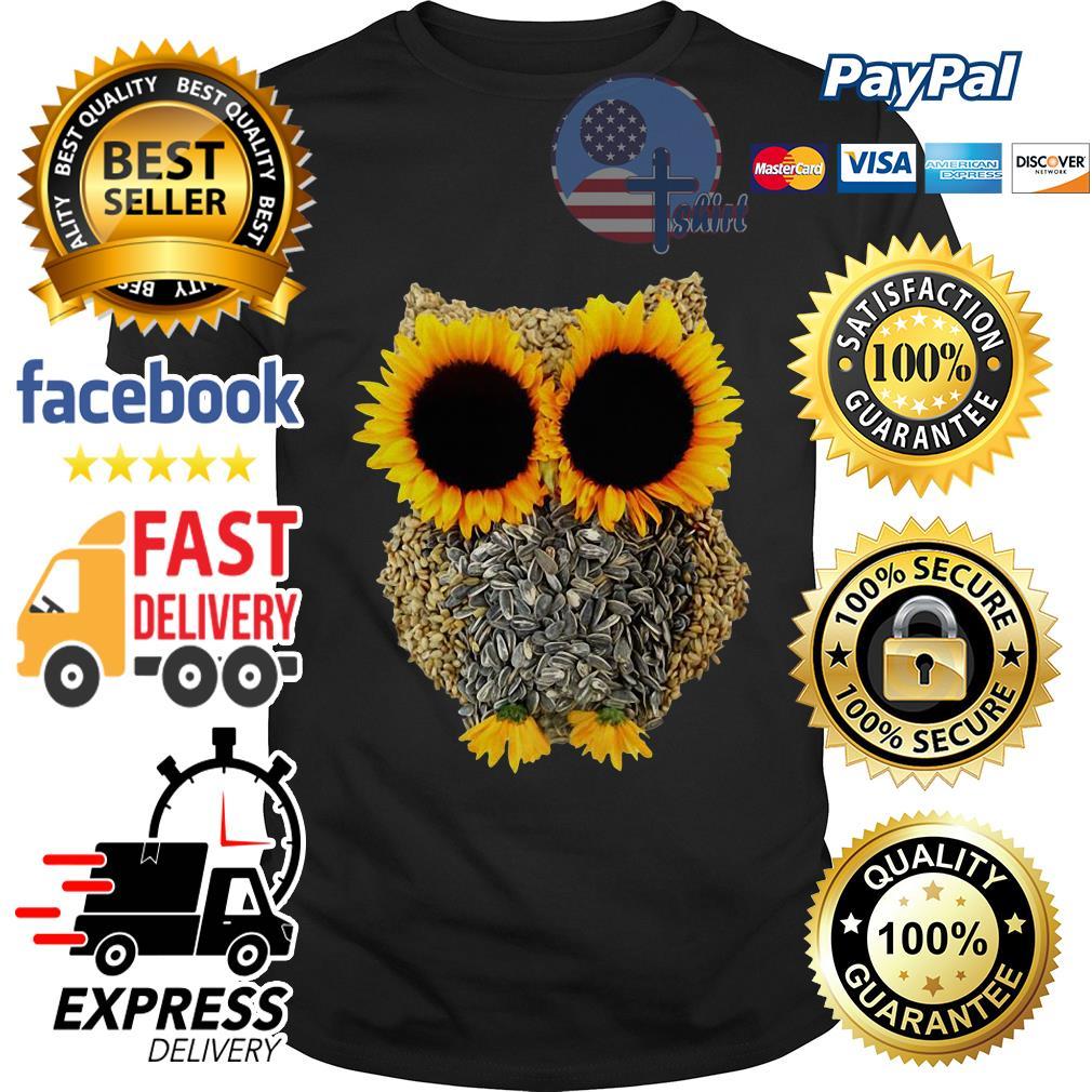 Official Owl sunflower shirt