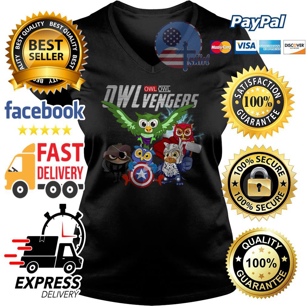 Owl Owl Owlvengers Avengers V-neck t-shirt