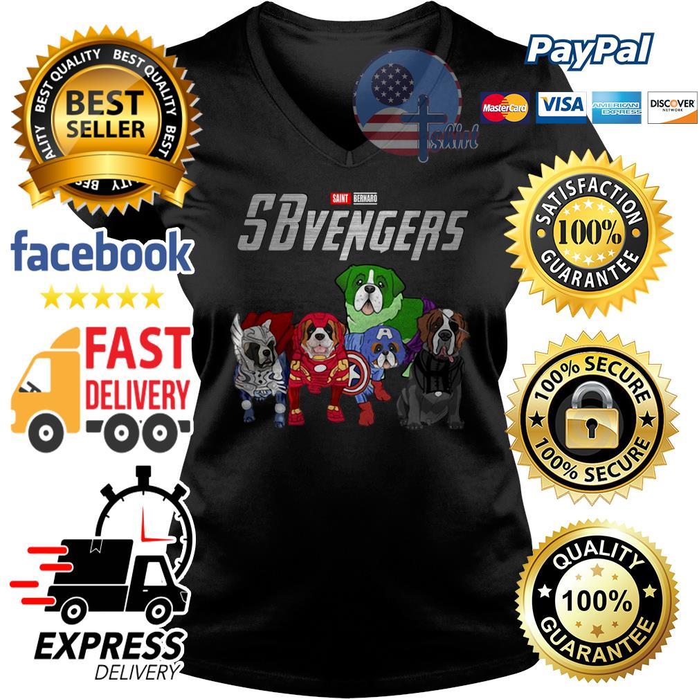 Saint Bernard Sbvengers Avengers V-neck t-shirt