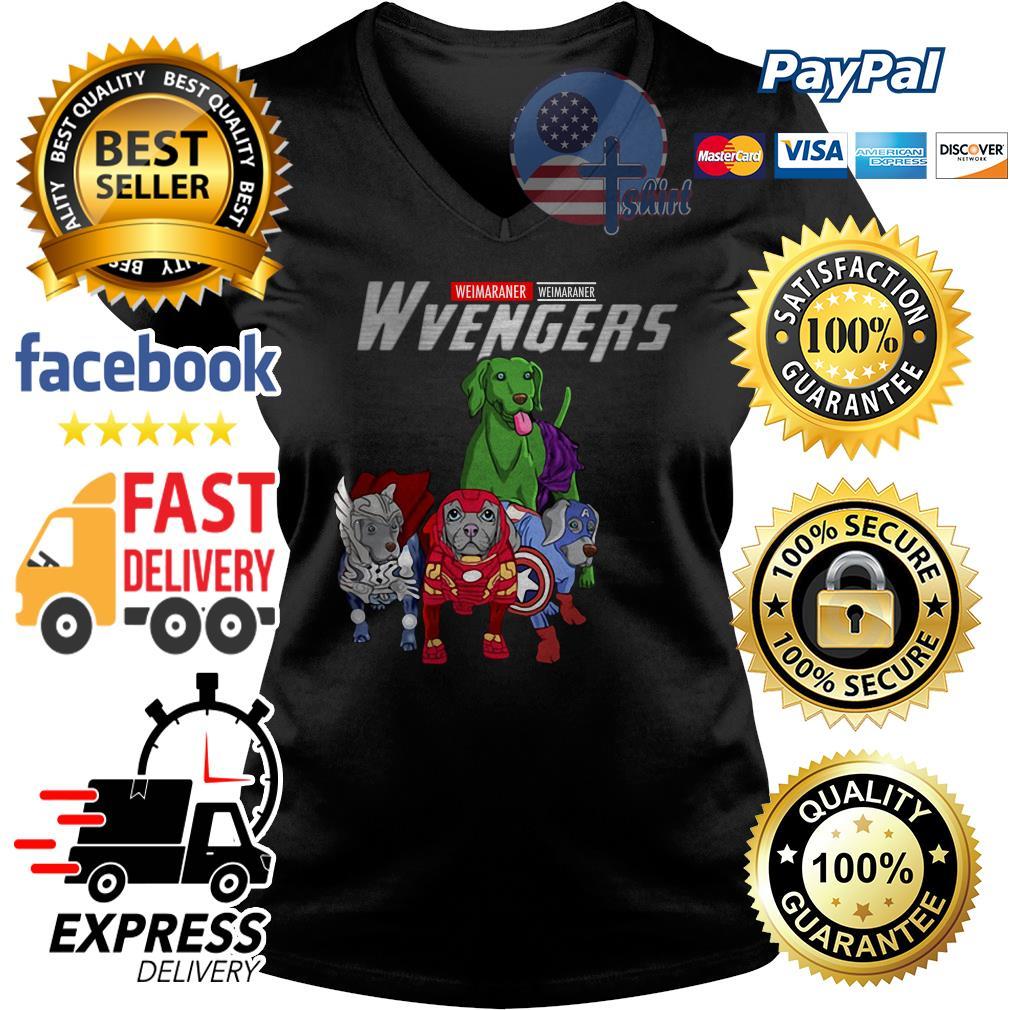 Weimaraner Weimaraner Wvengers Avengers V-neck t-shirt