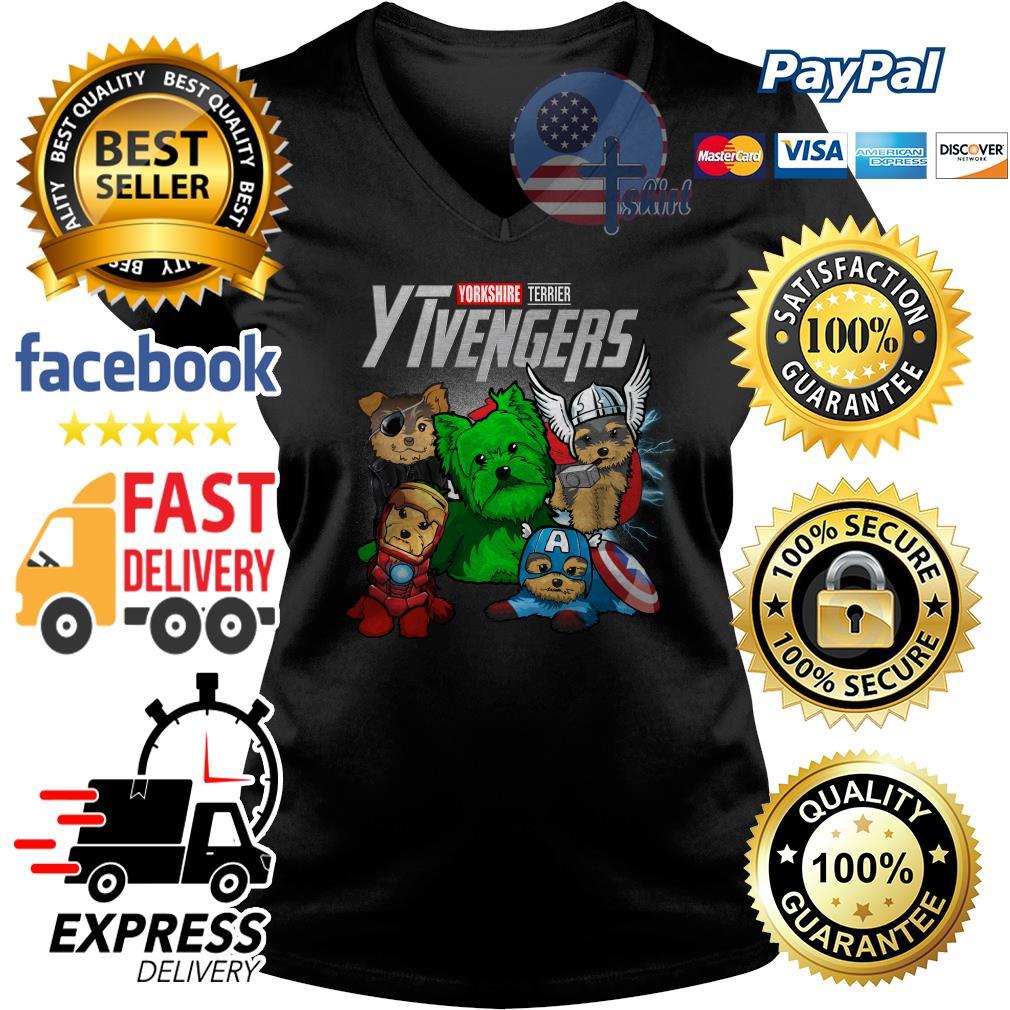 Yorkshire Terrier Ytvengers Avenger V-neck t-shirt