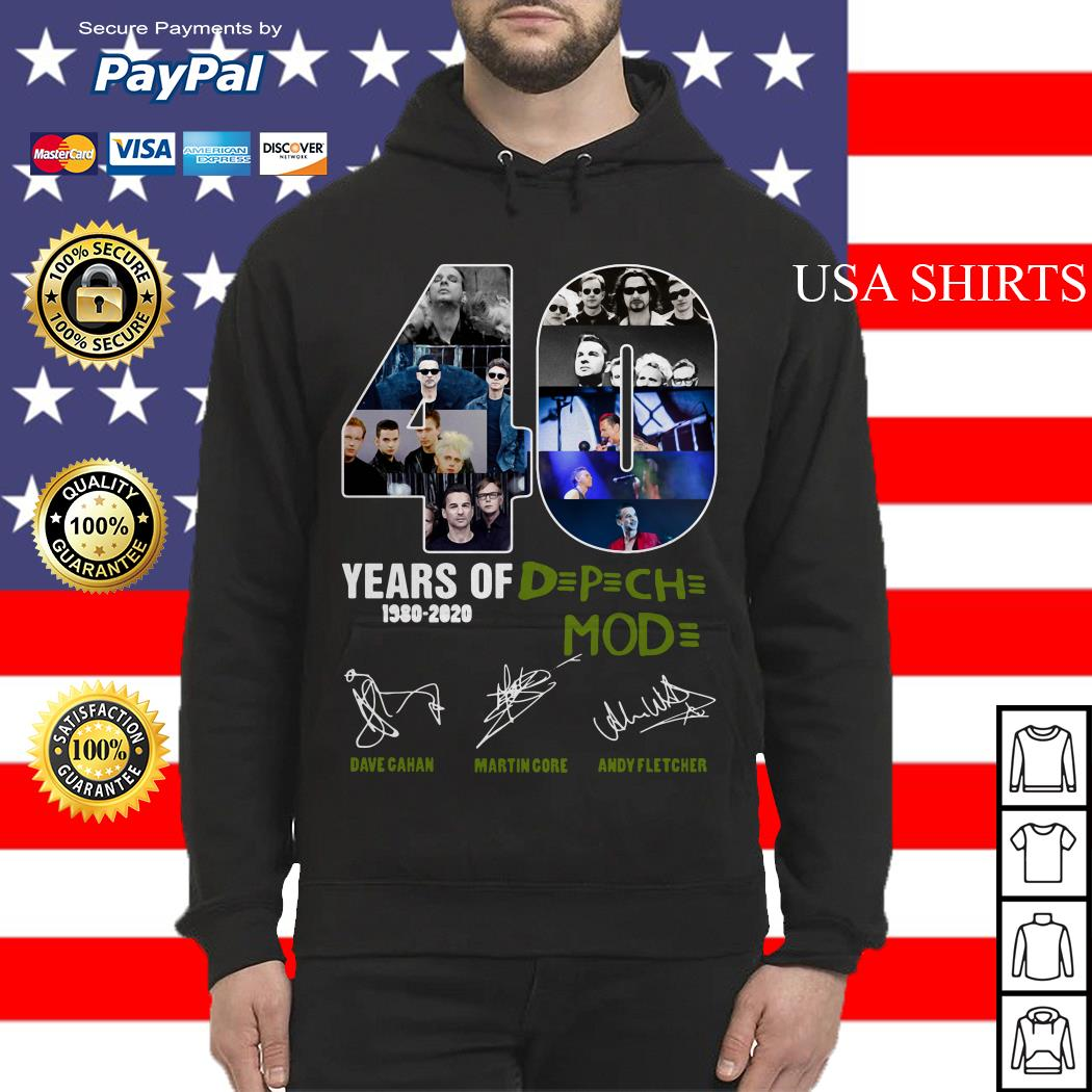 40 years of DPCH mod 1980 2020 Dave gahan martin gore andy fletcher Hoodie