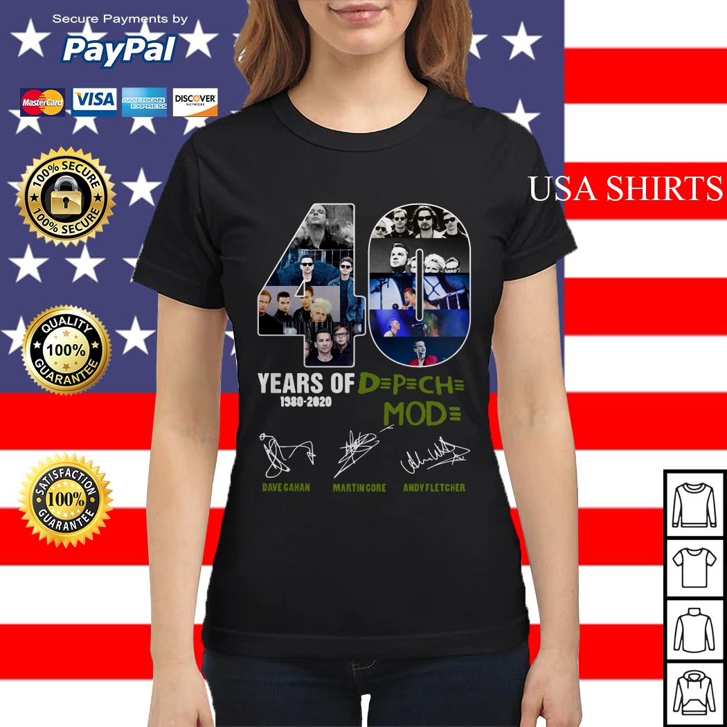 40 years of DPCH mod 1980 2020 Dave gahan martin gore andy fletcher Ladies tee