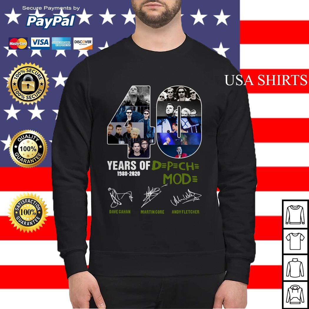 40 years of DPCH mod 1980 2020 Dave gahan martin gore andy fletcher Sweater