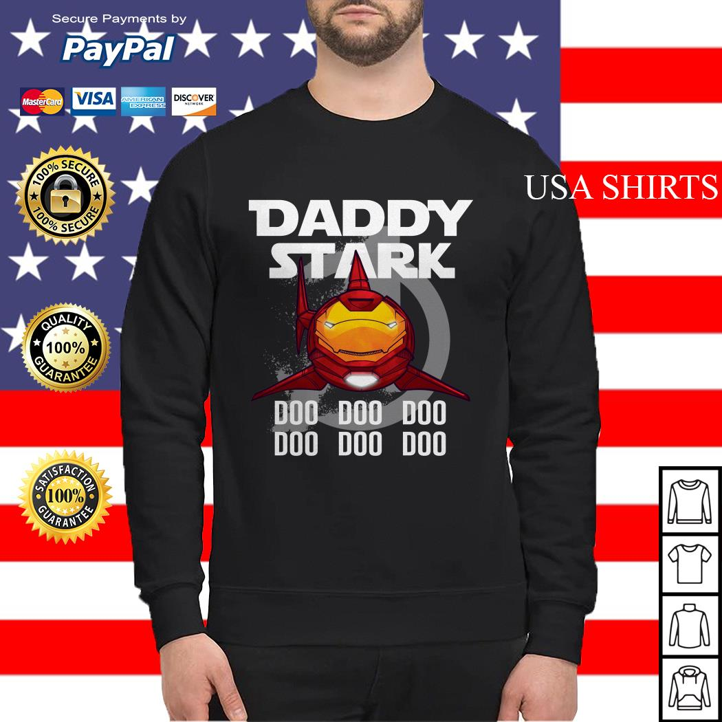 Avengers Iron Man daddy Stark shark doo doo doo doo doo doo Sweater