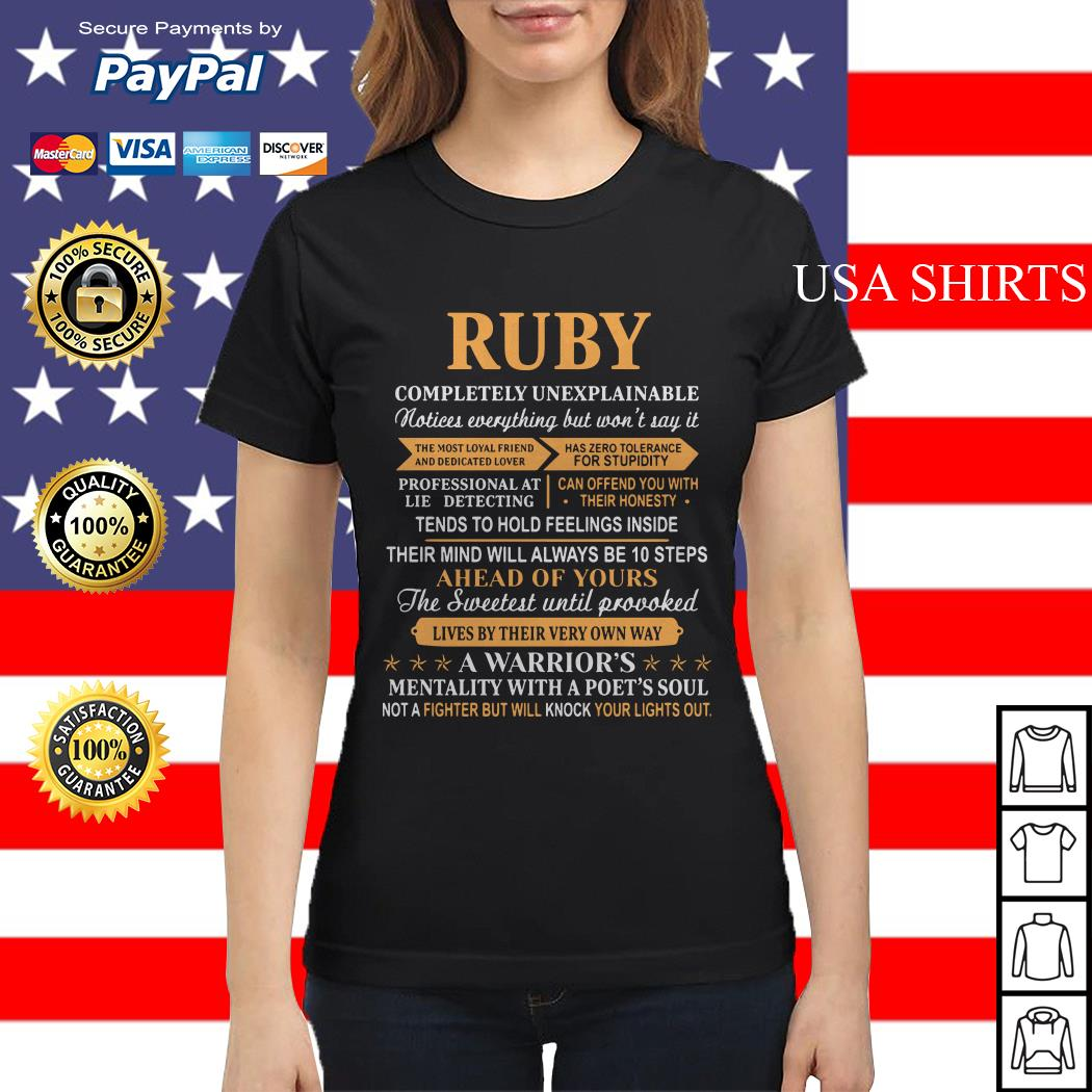 Ruby completely unexplainable notices everything Ladies tee